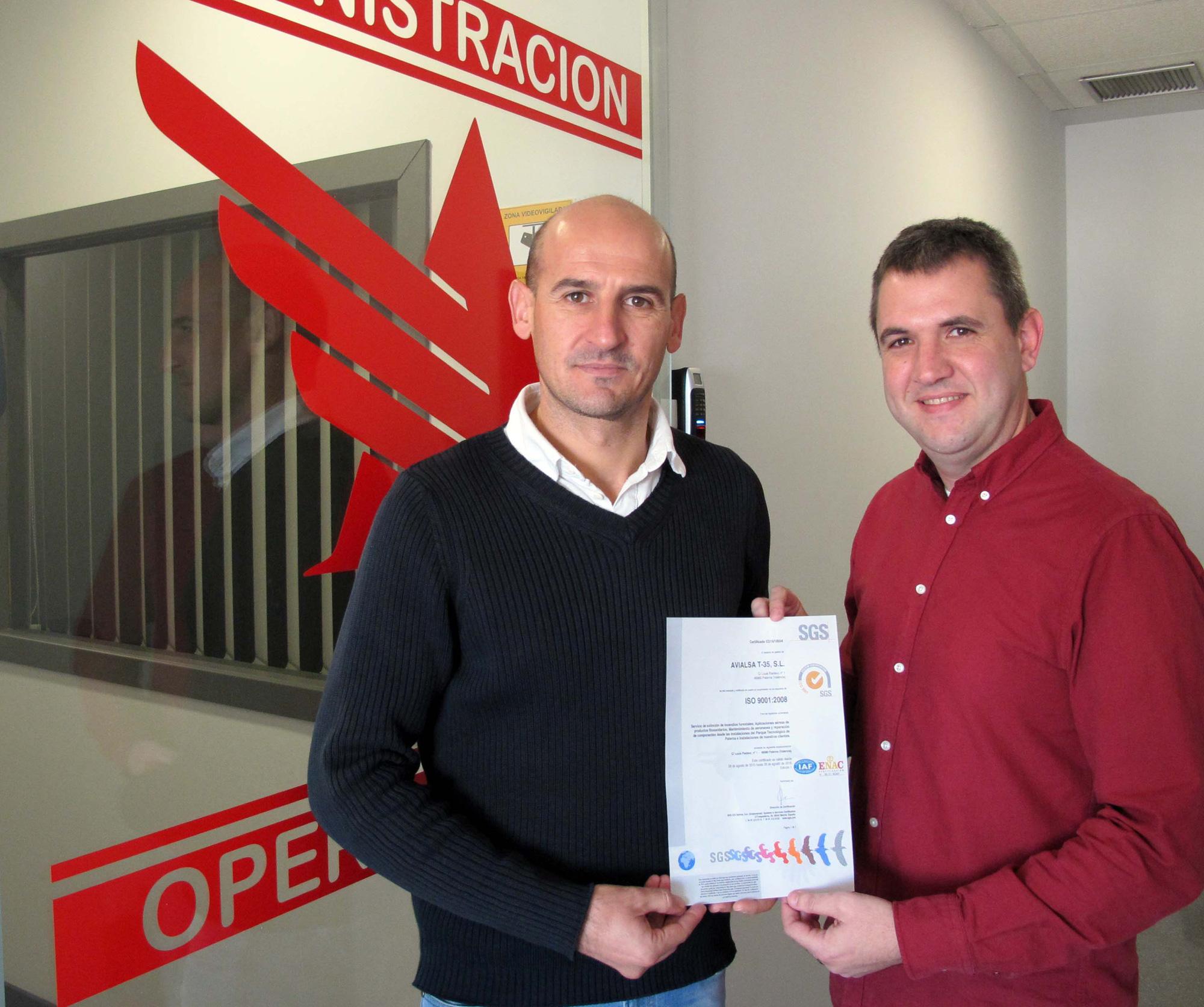 Avialsa se certifica en la ISO 9001:2008